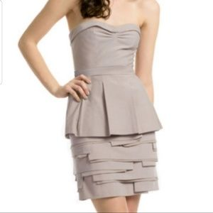 BCBG Annika beige dress